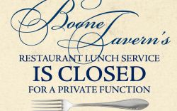 Lunch Service Closed Today